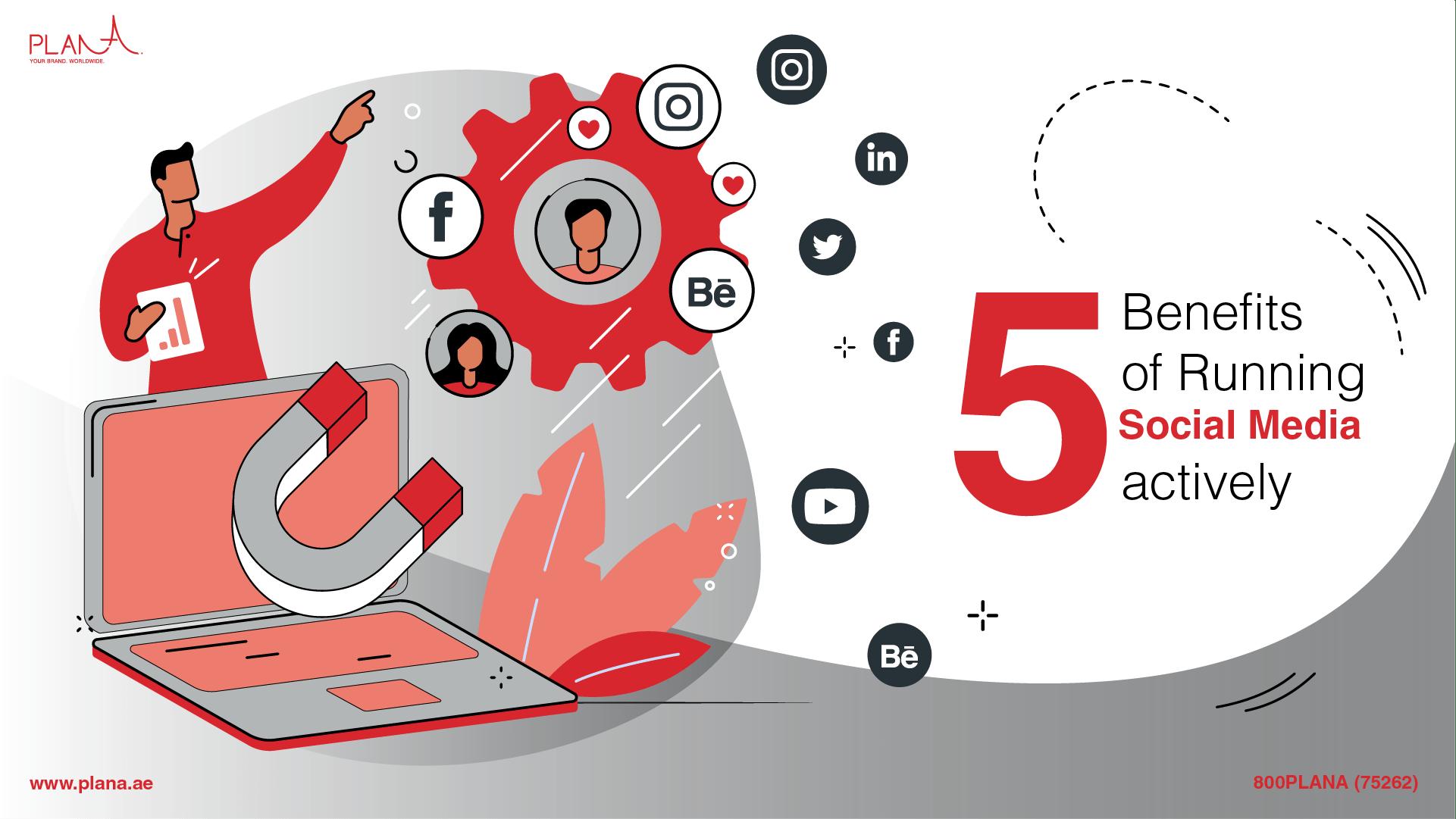 5 Benefits of Running Social Media Actively